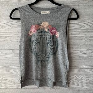 Abercrombie & Fitch Gray Tiger Floral Tank Top